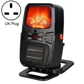 Flame Heater Mini Household Wall-mounted Desktop Radiator Warmer Electric Heater, UK Plug