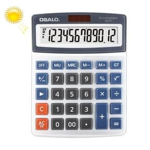 OSALO OS-4M 12 Digits Desktop Calculator Solar Energy Dual Power Calculator