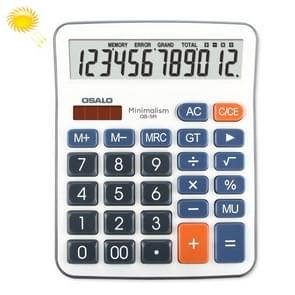 OSALO OS-5M 12 Digits Desktop Calculator Solar Energy Dual Power Calculator