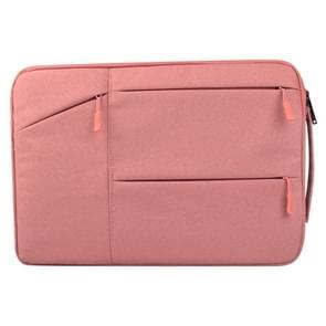 Universele 14 inch Laptoptas Sleeve met Oxford stof en zijvakjes voor MacBook  Samsung  Lenovo  Sony  Dell  Chuwi  Asus  HP (roze)