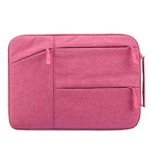 Universele 14 inch Laptoptas Sleeve met Oxford stof en zijvakjes voor MacBook  Samsung  Lenovo  Sony  Dell  Chuwi  Asus  HP (hard roze)