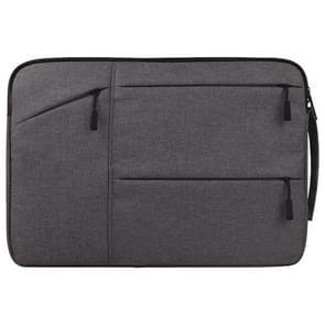 Universele 15.6 inch Laptoptas Sleeve met Oxford stof en meerdere zijvakjes voor MacBook  Samsung  Lenovo  Sony  Dell  Chuwi  Asus  HP (grijs)