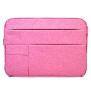 Universele 15.6 inch Laptoptas Sleeve met Oxford stof en zijvakjes voor MacBook  Samsung  Lenovo  Sony  Dell  Chuwi  Asus  HP (hard roze)