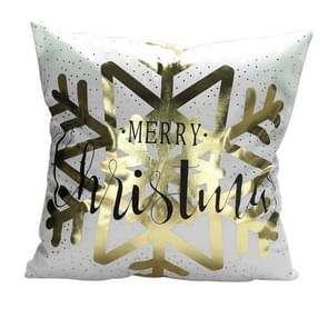 Fashion Bronzing Gold Printed Cushion Cover Sofa Seat Pillow Case, Size: 45*45cm