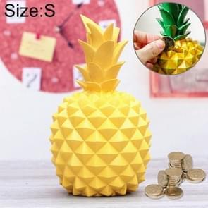 Creatieve mooie Jelly-gekleurde ananas vorm hars geld munt bank huis decoratie  grootte: 13.5 * 7cm  willekeurige kleur levering