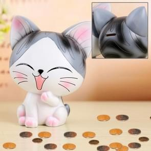 Creative Lovely Lovers Sweet Cat Shape Resin Money Coin Bank