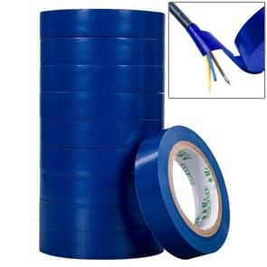 10 PCS 16mm Waterproof PVC Insulating Tare Electricians Electrical Tape(Dark Blue)