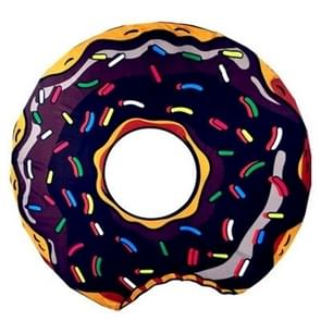 Zwarte Donuts patroon gedrukt zomer Bad handdoek zand strand handdoek omslagdoek sjaal  formaat: 150 x 150cm