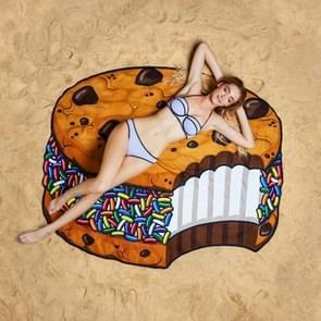 Taart patroon gedrukt zomer Bad handdoek zand strand handdoek omslagdoek sjaal  formaat: 150 x 150cm
