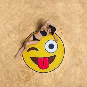 Lachende gezicht patroon gedrukt zomer Bad handdoek zand strand handdoek omslagdoek sjaal  formaat: 150 x 150cm