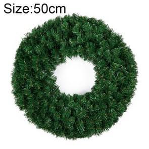 Kerst ornamenten gecodeerde rotan dubbele Ring kerst krans deur Ornament lengte: 50cm