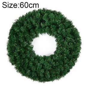 Kerst ornamenten gecodeerde rotan dubbele Ring kerst krans deur Ornament lengte: 60cm