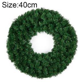Kerst ornamenten gecodeerde rotan dubbele Ring kerst krans deur Ornament lengte: 40cm