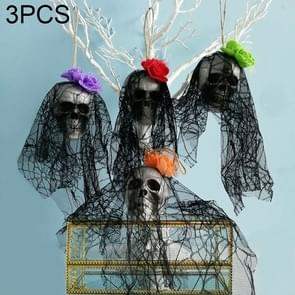 3 PCS Halloween Decorations Bar KTV Scene Layout Props Bubble Skull Hanging Ornaments, Random Style Delivery