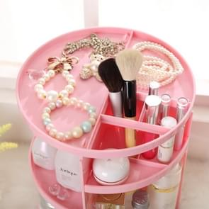 360 Degrees Rotate Functional Cosmetics Container Makeup Organizer Eco-friendly Storage Box, Size: 23 x 31cm(Pink)