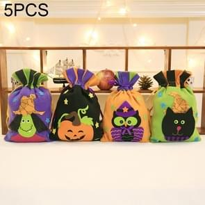 5 PCS Halloween Decoration Creative Cartoon Bunch of Candy Gifts Bundle Tote for Children, Random Style Delivery