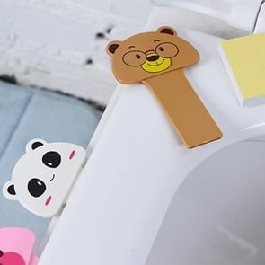 10 stuks leuke tekenfilm draagbaar handige Toilet deksel vermelding Toilet apparaatset  willekeurige stijl-levering
