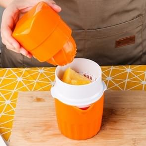D566 Household ABS Manual Juice Cup Squeezer Fruit Reamers(Orange)