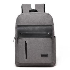 Universele multifunctionele 14 inch Laptop Schouderstas studenten Backpack met Oxford stof voor MacBook  Samsung  Lenovo  Sony  Dell  Chuwi  Asus  HP  Afmetingen: 39 x 30 x 12 cm (grijs)