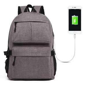 Universele multifunctionele 15.6 inch Laptop Schouderstas studenten Backpack met Oxford stof voor MacBook  Samsung  Lenovo  Sony  Dell  Chuwi  Asus  HP  Afmetingen: 46 x 32 x 12 cm (grijs)