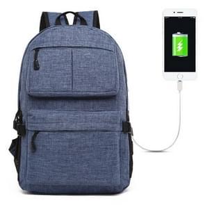 Universele multifunctionele 15.6 inch Laptop Schouderstas studenten Backpack met Oxford stof voor MacBook  Samsung  Lenovo  Sony  Dell  Chuwi  Asus  HP  Afmetingen: 46 x 32 x 12 cm (blauw)