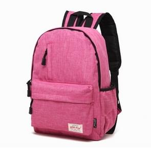 Universele multifunctionele 15.6 inch Laptop Schouderstas studenten Backpack voor MacBook  Samsung  Lenovo  Sony  Dell  Chuwi  Asus  HP  Afmetingen: 42 x 29 x 13 cm (hard roze)