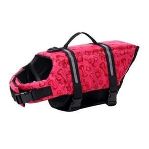 Huisdier Saver  hond reflecterende strepen  zwemvest Vest voor zwemmen varen surfen  grootte: S (roze bot)