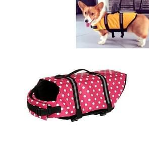 Huisdier Saver  hond reflecterende strepen  zwemvest Vest voor zwemmen varen surfen  grootte: S (roze stip)