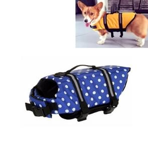Huisdier Saver  hond reflecterende strepen  zwemvest Vest voor zwemmen varen surfen  grootte: S (blauwe stip)