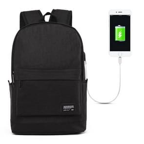 Universele multifunctionele 15.6 inch Laptop Schouderstas studenten Backpack met externe USB laad poort voor MacBook  Samsung  Lenovo  Sony  Dell  Chuwi  Asus  HP  Afmetingen: 45 x 31 x 16 cm (zwart)