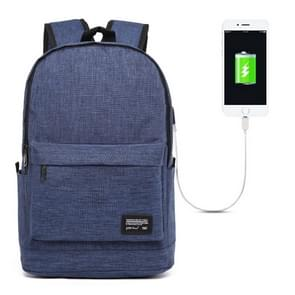 Universele multifunctionele 15.6 inch Laptop Schouderstas studenten Backpack met externe USB laad poort voor MacBook  Samsung  Lenovo  Sony  Dell  Chuwi  Asus  HP  Afmetingen: 45 x 31 x 16 cm (blauw)