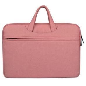 Lucht doorlatende en slijtvaste 14 inch Laptoptas met rits voor MacBook  Samsung  Lenovo  Sony  Dell  Chuwi  Asus  HP (roze)