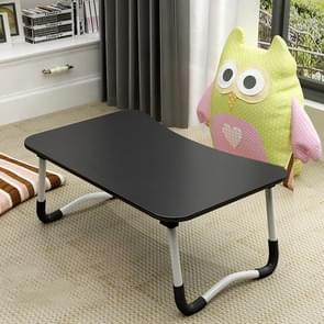 W-leg Type Adjustable Folding Portable Laptop Desk, with Non-slip Mat (Black)