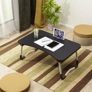 W-leg Type Adjustable Folding Portable Laptop Desk, with Non-slip Mat & Card Slot (Black)