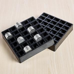 300 PCS Overlap Coins Game Coin Plastic Storage Box(Black)
