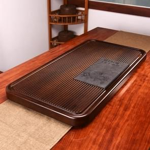 Household Solid Wood Drainage Type Rectangle Tea Tray Tea Table,The Land Of Woods And Waters, Size: 80.5x41x5cm