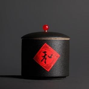 Portable Ceramic Tea-leaves Sealed Tank Tea Set (Black)