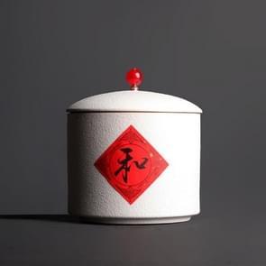 Portable Ceramic Tea-leaves Sealed Tank Tea Set (White)