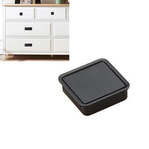 Simple Wardrobe Slotted Scrub Handle Concealed Recessed Drawer Invisible Handle, Single Hole (Black)