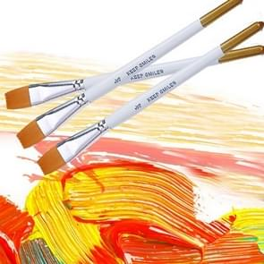 6 PCS Artists Oil Painting Brush Set Nylon Hair Wood Handle Acrylic Watercolor Pointed Tip Drawing Pen