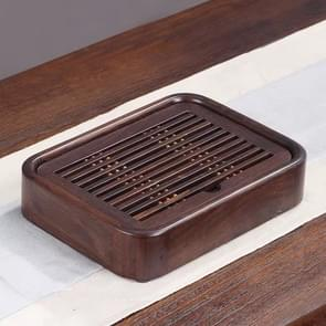 Household Ebony Water Storage Tea Tray Kung Fu Teaware, Size: 26 x 19 x 5cm