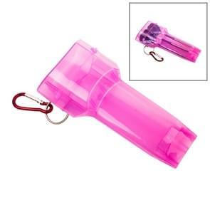Sport draagbare Dart vak plastic transparante container opslag Darts geval met belangrijke gesp (roze)