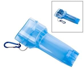 Sport draagbare Dart vak plastic transparante container opslag Darts geval met belangrijke gesp (blauw)