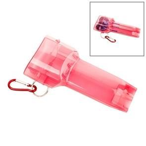 Sport draagbare Dart vak plastic transparante container opslag Darts geval met belangrijke gesp (rood)