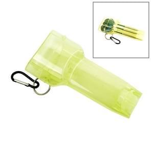 Sport draagbare Dart vak plastic transparante container opslag Darts geval met belangrijke gesp (geel)