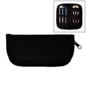 Professionele Oxford doek rits Dart tas portemonnee opslag Darts stof Pack (zwart)