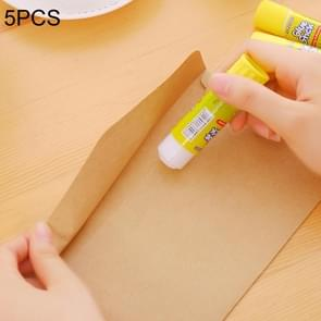 5 PCS Non-toxic Strong Adhesion Solid Glue Stick High Viscosity DIY Hand Made Work Glue, Large Size: 91 x 21mm