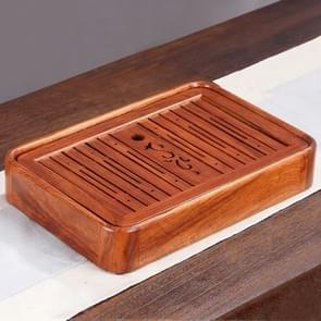 Household Rosewood Water Storage Tea Tray Kung Fu Teaware, Size: 36 x 24 x 6cm