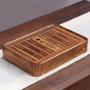 Household Wenge Water Storage Tea Tray Kung Fu Teaware, Size: 36 x 24 x 6cm