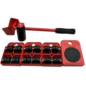 Zware meubels huis Trolley tillen en verplaatsen van dia's Kit 4 rollen & meubilair Lifter Mover vervoer Set(Red)